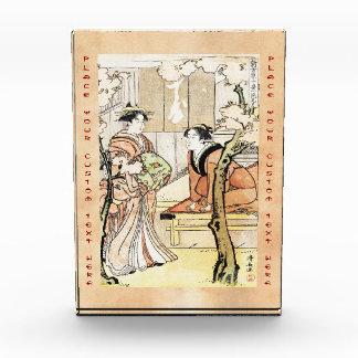 Cool japanese vintage ukiyo-e two geisha scroll award