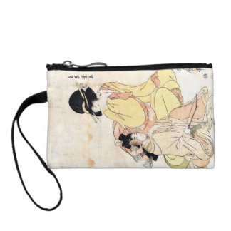 Cool japanese vintage ukiyo-e two ladies woman art coin wallet