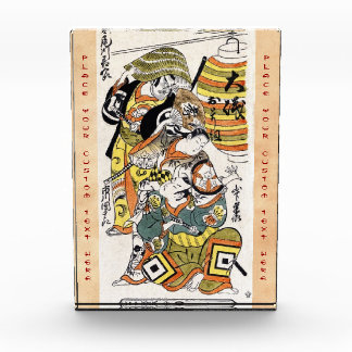 Cool japanese vintage ukiyo-e warrior kabuki actor awards