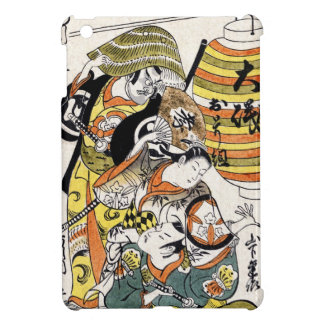 Cool japanese vintage ukiyo-e warrior kabuki actor iPad mini case