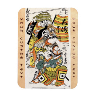 Cool japanese vintage ukiyo-e warrior kabuki actor rectangular photo magnet