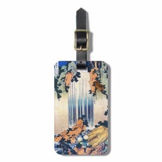 Cool japanese vintage ukiyo-e waterfall Hokusai Luggage Tags