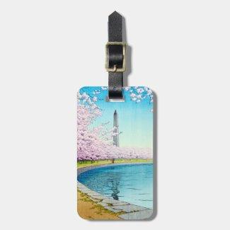 Cool japanese Washington spring cherry festival Luggage Tag