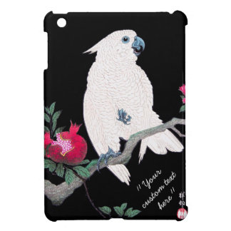 Cool japanese white cockatoo parrot dedication case for the iPad mini