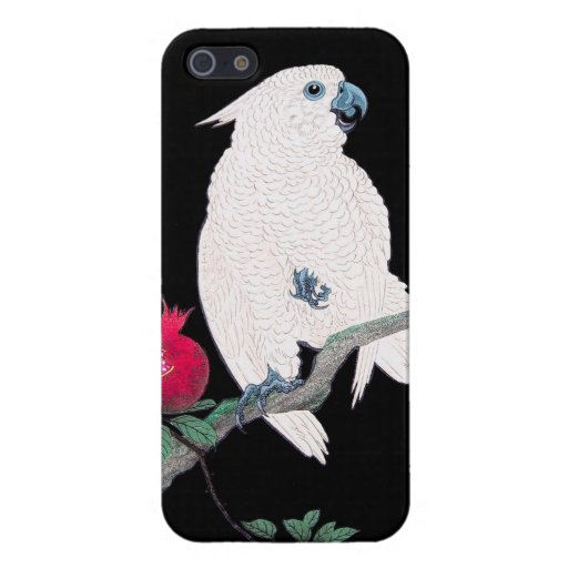 Cool japanese white cockatoo parrot tropical bird cases for iPhone 5