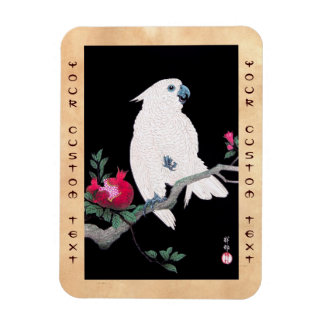 Cool japanese white cockatoo parrot tropical bird magnet