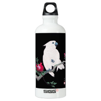 Cool japanese white cockatoo parrot tropical bird SIGG traveler 0.6L water bottle