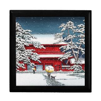 Cool japanese winter temple shrine kyoto scenery keepsake boxes