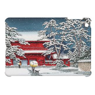 Cool japanese winter temple shrine kyoto scenery iPad mini covers