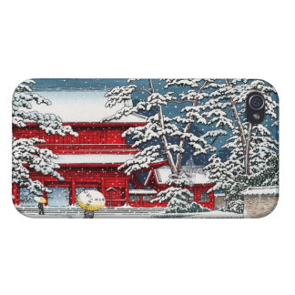 Cool japanese winter temple shrine kyoto scenery iPhone 4/4S case