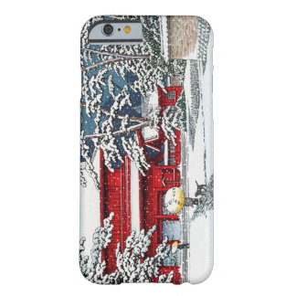 Cool japanese winter temple shrine kyoto scenery iPhone 6 case