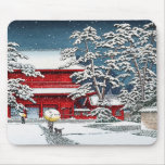 Cool japanese winter temple shrine kyoto scenery mouse pad