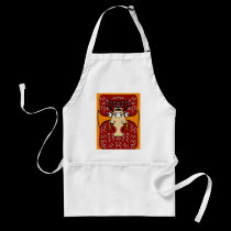 Cool Jazz Abstract Cubism 2 aprons