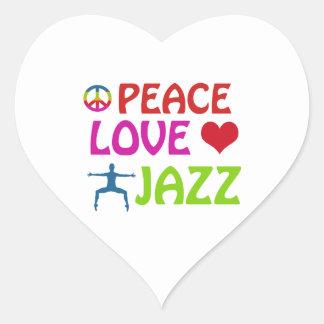 Cool Jazz dance designs Heart Sticker