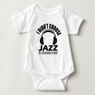 Cool jazz designs baby bodysuit