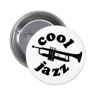 cool jazz print silhouette trumpet pin