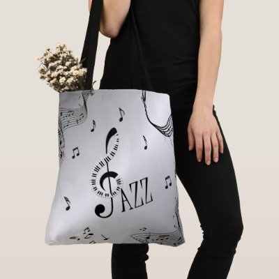 Cool Jazz Silver Tote Bag