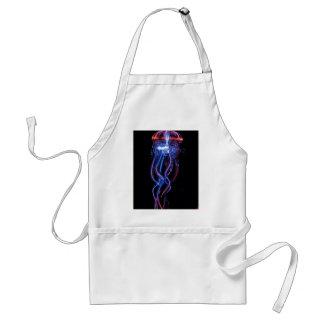 Cool Jellyfish Luminous Light Phenomeno Adult Apron