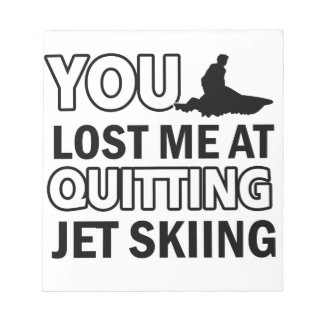 Cool jet skiing designs scratch pads