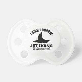 Cool Jet Skiing designs Pacifier