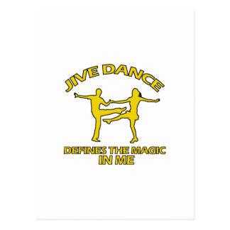 Cool Jive dance designs Postcard