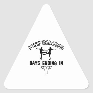Cool jive designs triangle sticker