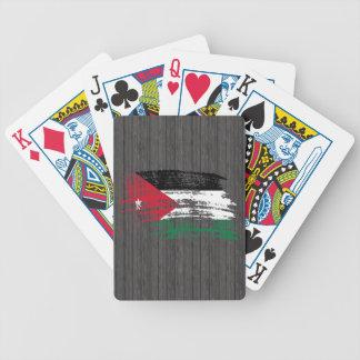 Cool Jordanian flag design Bicycle Playing Cards