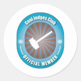 Cool Judges Club Classic Round Sticker