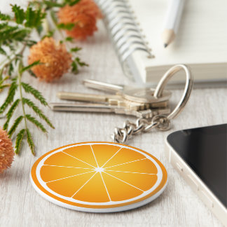 Cool Juicy Orange fruit slice Keychain