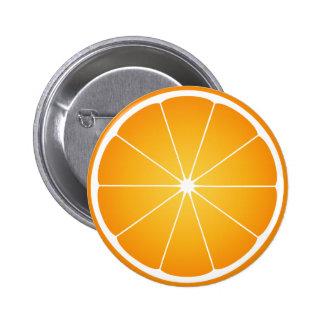 Cool Juicy Orange fruit slice Pinback Button