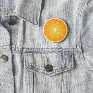 Cool Juicy Orange fruit slice Summer Pinback Button