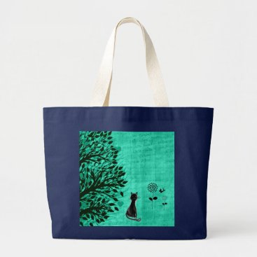 Beach Themed Cool Jumbo Cat Graphic Tote