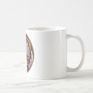 cool jungle cat round coffee mugs