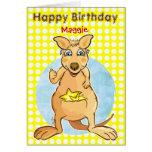Cool kangaroo Birthday - bubbles card