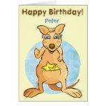 Cool kangaroo - card