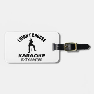 Cool Karaoke designs Luggage Tag