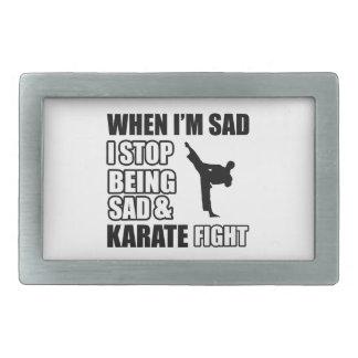 Cool karate designs rectangular belt buckles