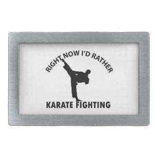 cool karate designs rectangular belt buckle
