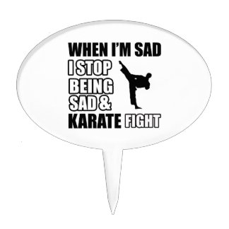 Cool karate designs cake toppers