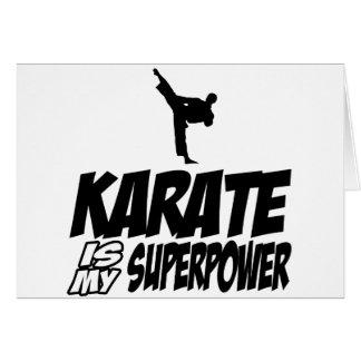 Cool KARATE designs Card