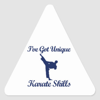 cool karate designs triangle sticker