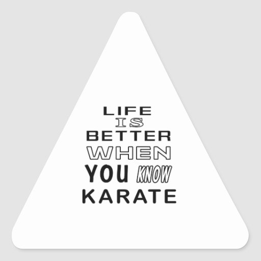Cool Karate Designs Triangle Stickers