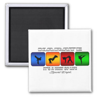 Cool Karate It Is A Way Of Life 2 Inch Square Magnet
