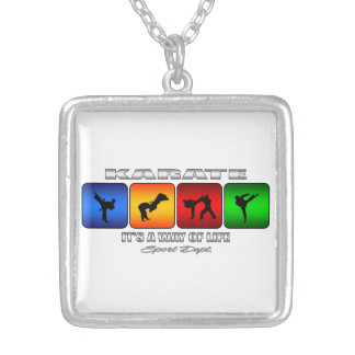 Cool Karate It Is A Way Of Life Silver Plated Necklace