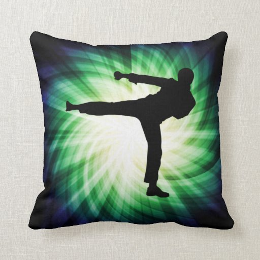 Cool karate kick throw pillow zazzle for Cool couch pillows