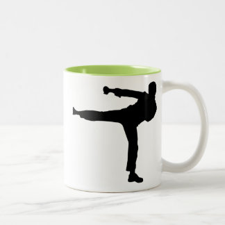 Cool Karate Kick Two-Tone Coffee Mug
