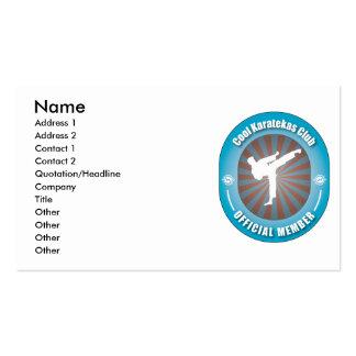 Cool Karatekas Club Business Card Templates
