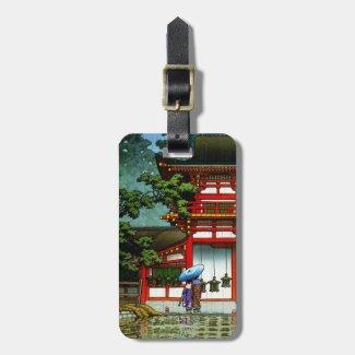 Cool Kasuga Shrine Nara Hasui Kawase shin hanga Tag For Bags