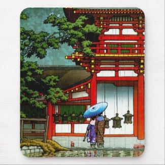 Cool Kasuga Shrine Nara Hasui Kawase shin hanga Mousepads