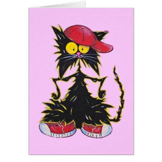 Cool Kat Hip Hop Greeting Card